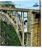 Bixby Creek Bridge Panorama Acrylic Print by Benjamin Yeager