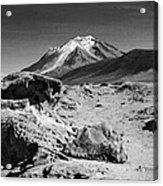Bizarre Landscape Bolivia Black And White Acrylic Print