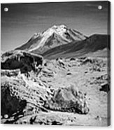 Bizarre Landscape Bolivia Black And White Select Focus Acrylic Print
