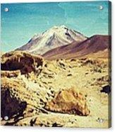 Bizarre Landscape Bolivia Old Postcard Acrylic Print