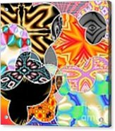 Bizzarro Colorful Psychedelic Floral Abstract Acrylic Print