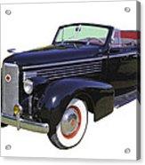 Black 1938 Cadillac Lasalle Acrylic Print