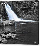 Black And Color Waterfall Acrylic Print