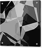 Black And Grey Abstract Acrylic Print