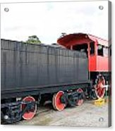 Black And Red Steam Engine Acrylic Print