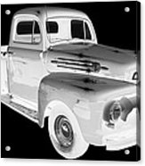 Black And White 1951 Ford F-1 Pickup Truck  Acrylic Print