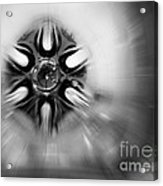 Black And White Abstract Burst Acrylic Print