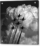 Black And White And Blue Angels Acrylic Print