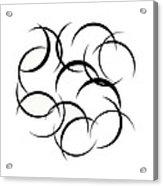 Black And White Art - 133 Acrylic Print