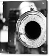 Black And White Cannon Acrylic Print