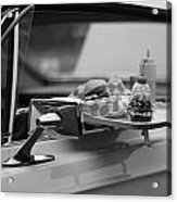 Black And White Carhop Acrylic Print