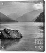 Black And White Cheakamus Lake Acrylic Print