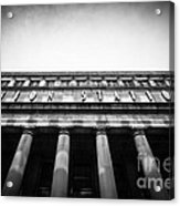Black And White Chicago Union Station Acrylic Print