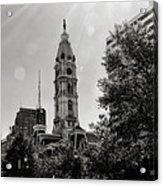 Black And White City Hall Acrylic Print