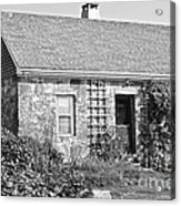 Black And White Cottage Acrylic Print