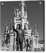 Black And White Disney And Mickey Acrylic Print