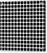 Black And White Dots Acrylic Print by Daniel Hagerman