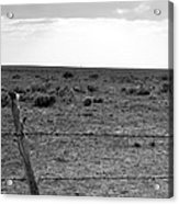 Black And White Fence  Acrylic Print