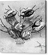 Black And White Fish 1  Acrylic Print
