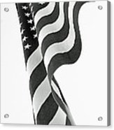 Black And White Flag Acrylic Print