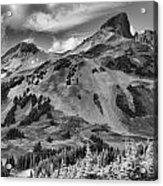 Black And White Garibaldi Black Tusk Acrylic Print