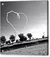 Black And White Heart Acrylic Print