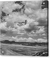 Black And White High Desert Cumulus Acrylic Print