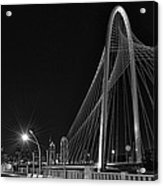 Black And White Hunt-bridge-dallas Acrylic Print