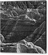 Black And White Image Of The Badlands Acrylic Print