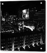Black And White In Vegas Acrylic Print