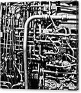 Black And White Jet Engine Acrylic Print