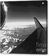 Jet Pop Art Plane Black And White  Acrylic Print