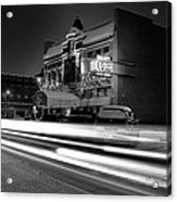 Black And White Light Painting Old City Prime Acrylic Print