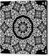 Black And White Medallion 10 Acrylic Print