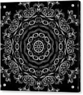 Black And White Medallion 2 Acrylic Print