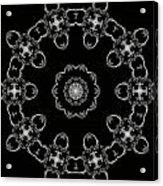 Black And White Medallion 3 Acrylic Print