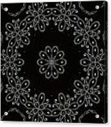 Black And White Medallion 4 Acrylic Print