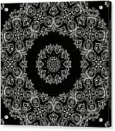 Black And White Medallion 6 Acrylic Print