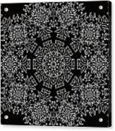 Black And White Medallion 7 Acrylic Print