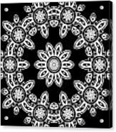 Black And White Medallion 8 Acrylic Print