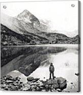 Black And White Mountain Landscape  Acrylic Print