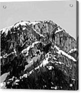 Black And White Mountain Range 1 Acrylic Print by Diane Rada