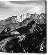 Black And White Mountains Acrylic Print
