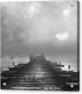 Black And White Mystery- From The Moon To The Mist Acrylic Print