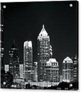 Black And White Night In Atlanta Acrylic Print