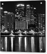 Black And White Night In Pa Acrylic Print