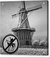 Black And White No Tilting At Windmills Acrylic Print