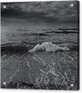 Black And White Ocean Wave 2014 Acrylic Print