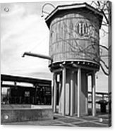 Black And White Of A Water Tower Acrylic Print