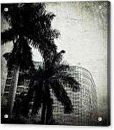 Black And White Palms Acrylic Print